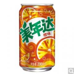 百事 美年达罐装330ml 一件24罐 橙味 厦门市