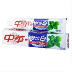 中华健齿白牙膏(清新薄荷味) 一支200g 福建省
