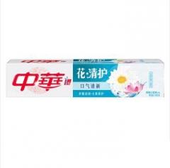 中华花清护牙膏(清菊沁莲) 一支180g 福建省