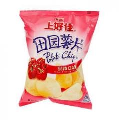 上好佳 田园薯片 甜辣味 50g 全国
