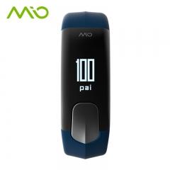 迈欧(MIO)SLICE运动防水睡眠手环来电提醒户外智能心率检测手表 蓝色 L码 全国送达