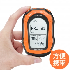 手持式户外工作站气压计监测海拔高度计登山装备仪罗盘码表时间闹钟钓鱼表