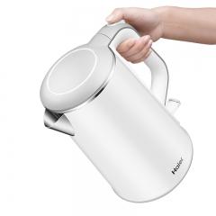 海尔电热水壶家用 304不锈钢烧水壶无缝内胆自动断电大容量开水壶