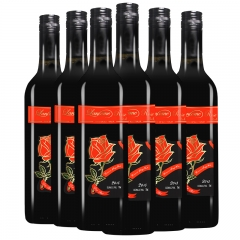 莱蔻玫瑰混酿红葡萄酒(红玫瑰) 整箱(6支) 全国