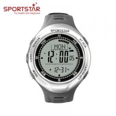 仕博达(SPORTSTAR) 登山表户外大师III海拔表高度温度罗盘心率运动户外手表 灰色 心率表